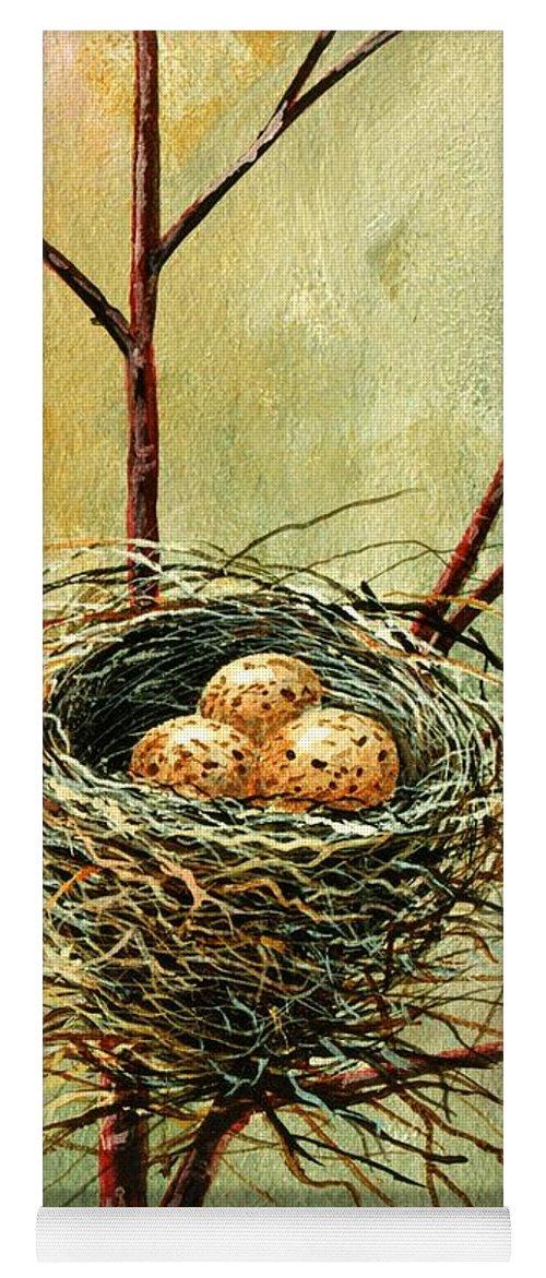 Still Life Yoga Mat featuring the painting Bird Nest by Frank Wilson