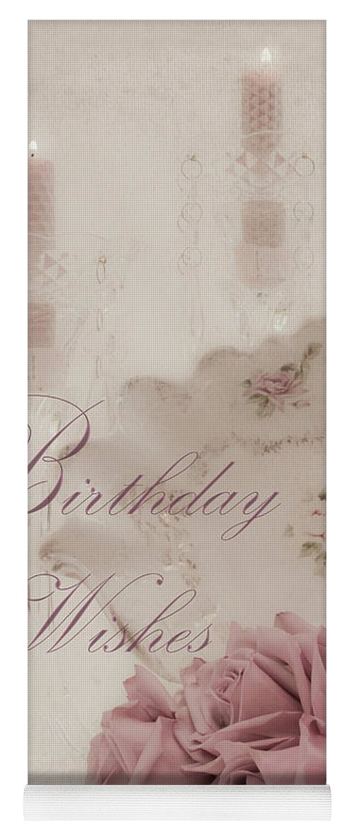 Birthday Wishes Candles Crystal And Roses Yoga Mat For Sale By