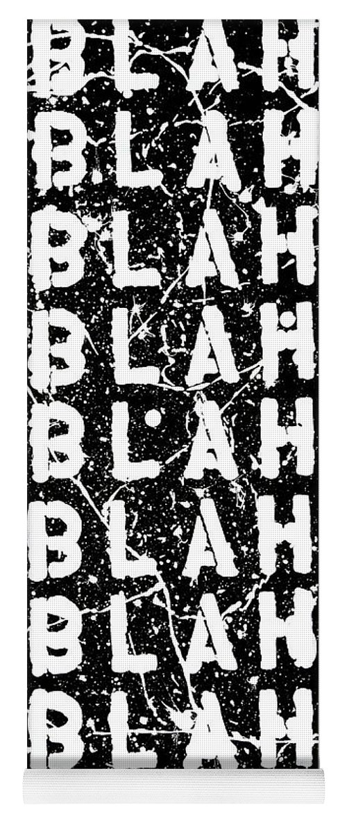 Blah Blah Blah Yoga Mat featuring the painting Blah Blah Blah by Ducksy