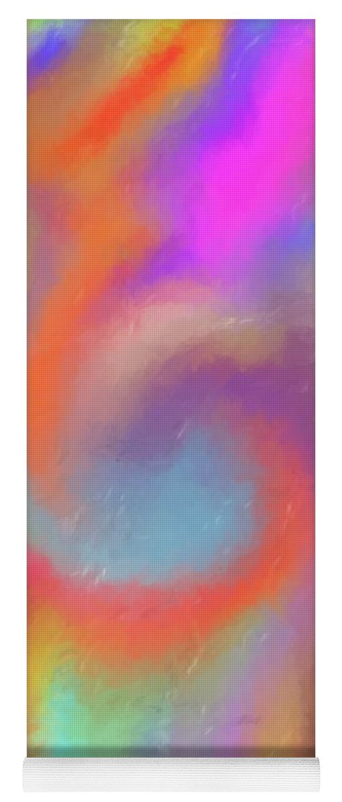 Blended Skittles Yoga Mat featuring the painting Blended Skittles by Dan Sproul