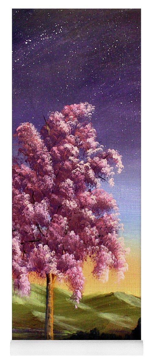 Dawn Blair Yoga Mat featuring the painting Blossoming by Dawn Blair