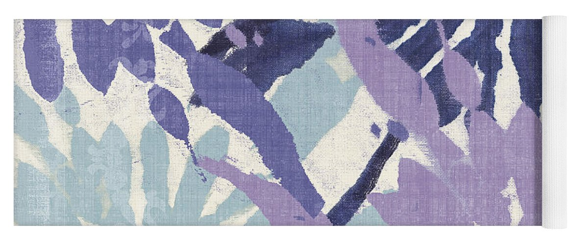 Ikat Yoga Mat featuring the painting Blue Curry II by Mindy Sommers