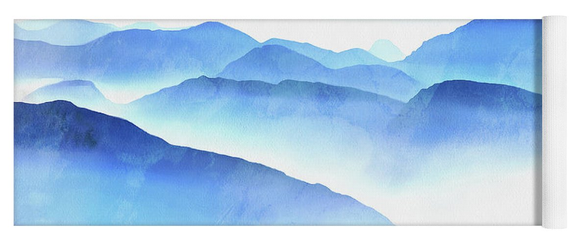 Painting Yoga Mat featuring the photograph Blue Ridge Mountains by Edward Fielding