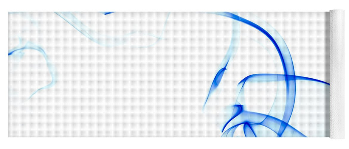 Scott Norris Photography Yoga Mat featuring the photograph Blue Smoke by Scott Norris