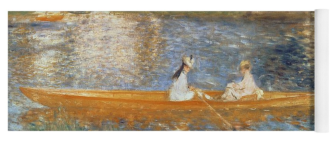 Boating On The Seine Yoga Mat featuring the painting Boating On The Seine by Pierre Auguste Renoir