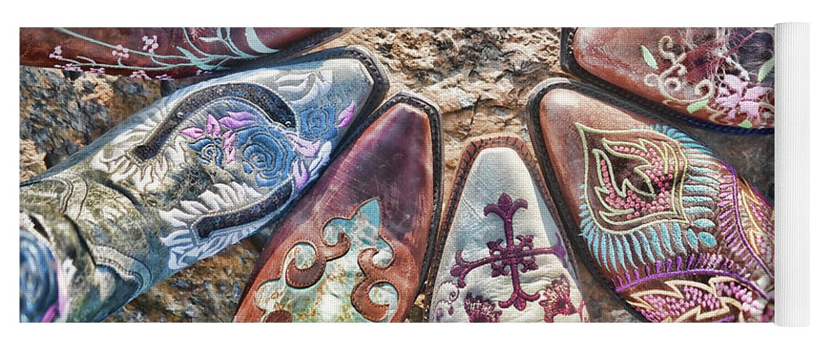 Boot Yoga Mat featuring the photograph Boot Fan by Sharon Popek