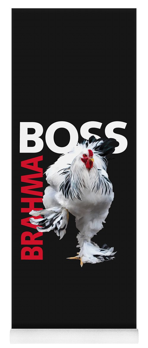 Light Brahma Yoga Mat featuring the digital art Brahma Boss II t-shirt print by Sigrid Van Dort