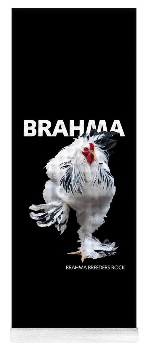 Brahma Yoga Mat featuring the digital art Brahma Breeders Rock T-shirt Print by Sigrid Van Dort
