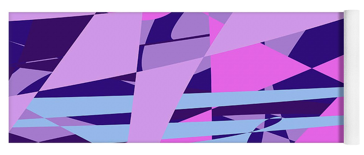 Abstract Yoga Mat featuring the digital art Brain Storming by Laura Greco