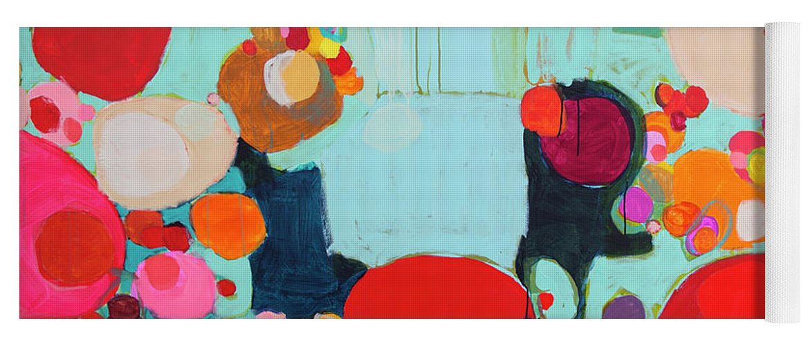 Abstract Yoga Mat featuring the painting Bright As Quiet by Claire Desjardins