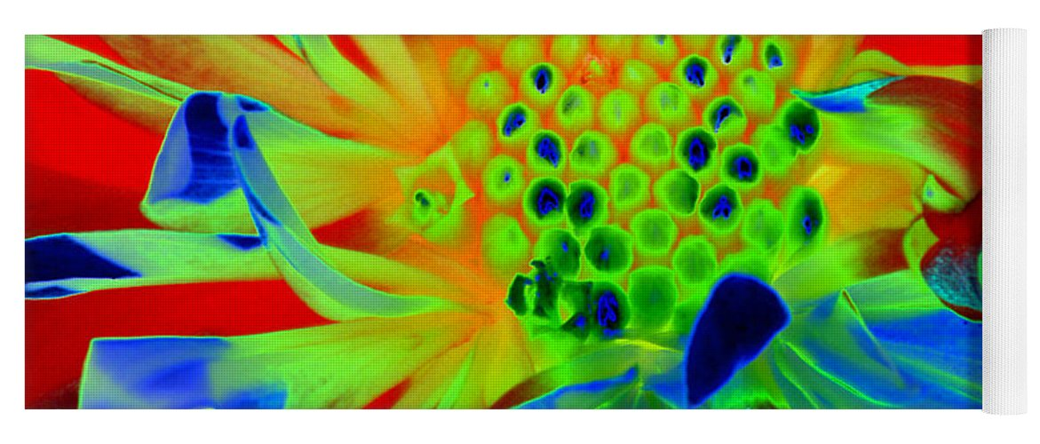 Diane Berry Yoga Mat featuring the painting Bright Flower by Diane E Berry