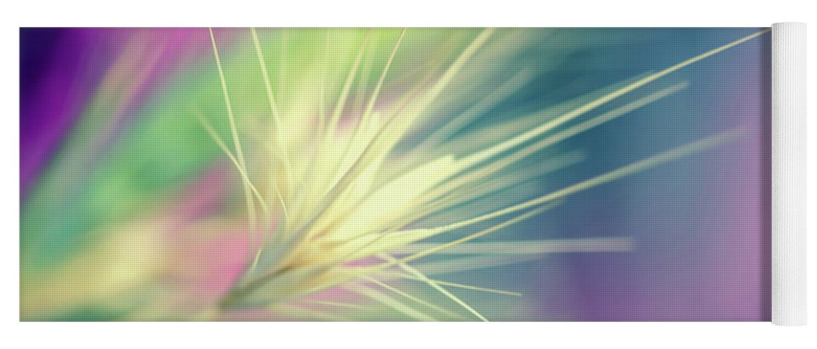 Bright Colors Yoga Mat featuring the digital art Bright Weed by Terry Davis