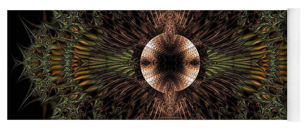 Broach Of Dried Leaves / Warm Yoga Mat featuring the digital art Broach Of Dried Leaves / Warm by Elizabeth McTaggart