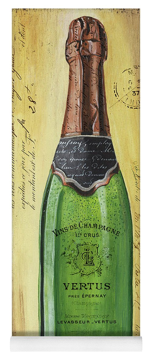 Alcohol Yoga Mat featuring the painting Bubbly Champagne 2 by Debbie DeWitt