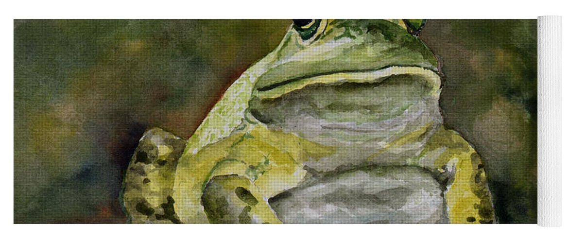 Frog Yoga Mat featuring the painting Bully by Sam Sidders