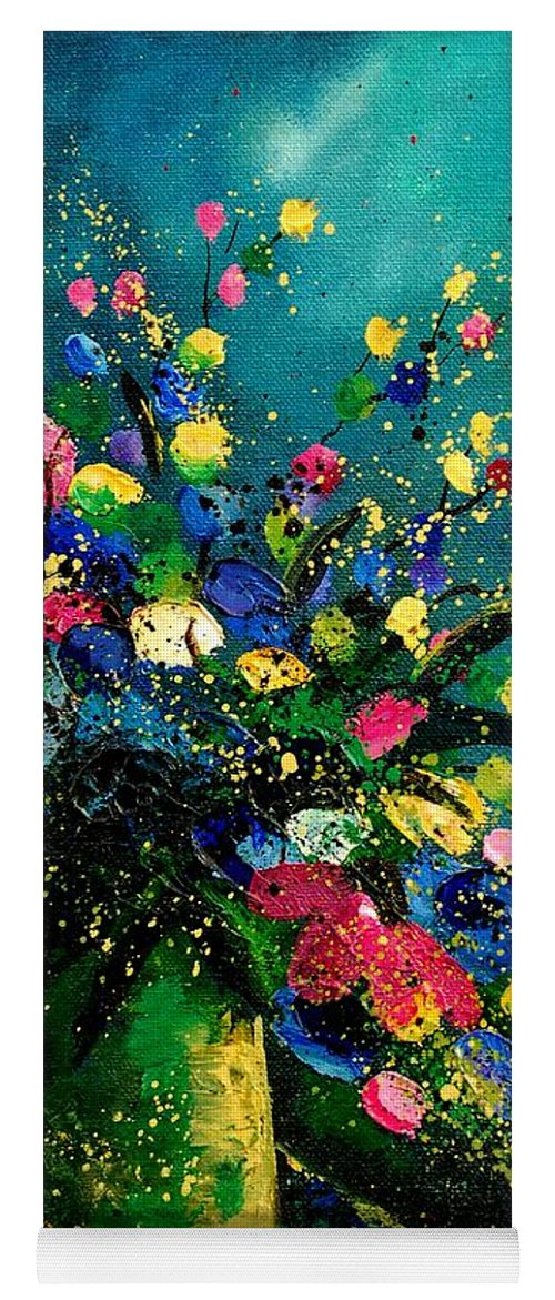 Flowers Yoga Mat featuring the painting Bunch 0807 by Pol Ledent