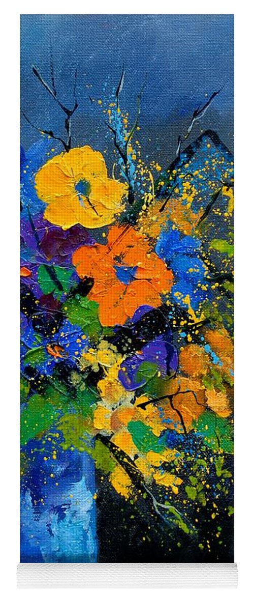 Poppies Yoga Mat featuring the painting Bunch 1007 by Pol Ledent