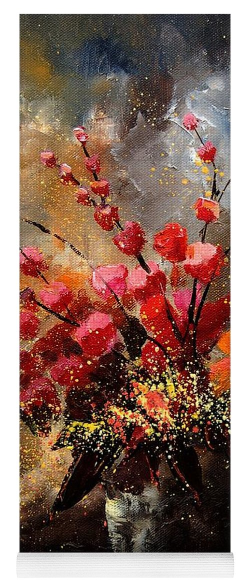 Poppies Yoga Mat featuring the painting Bunch 1207 by Pol Ledent