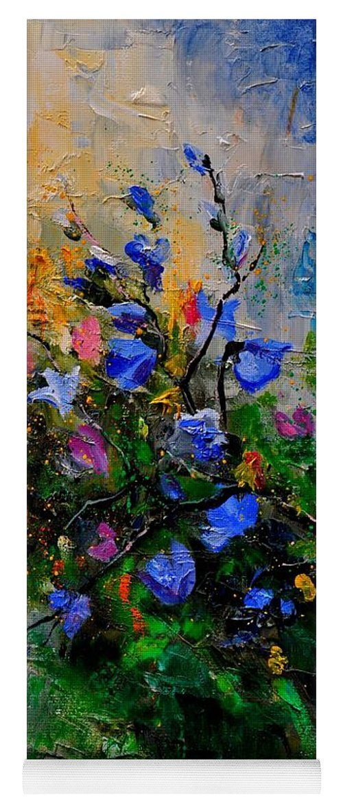 Flowers Yoga Mat featuring the painting Bunch 451130 by Pol Ledent