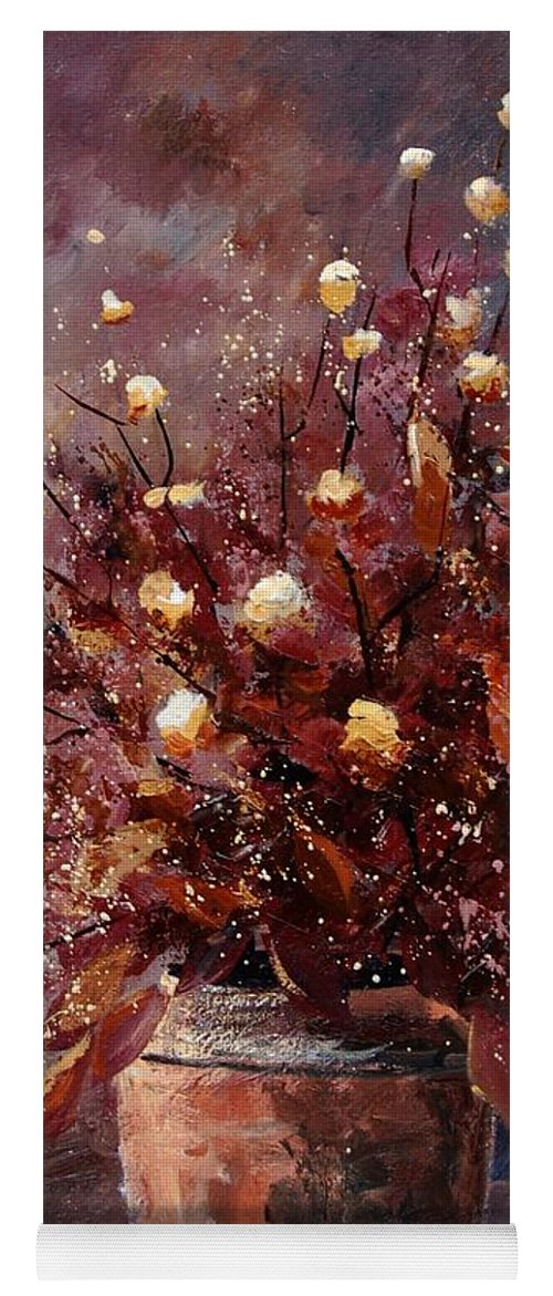 Poppies Yoga Mat featuring the painting Bunch 56 by Pol Ledent
