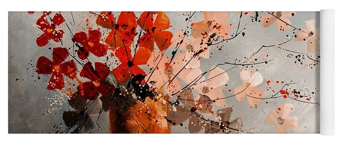 Flowers Yoga Mat featuring the painting Bunch 670908 by Pol Ledent