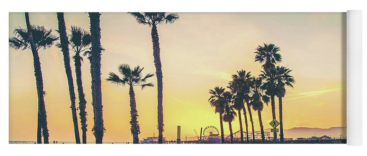 Los Angeles Yoga Mat featuring the photograph Cali Sunset by Az Jackson