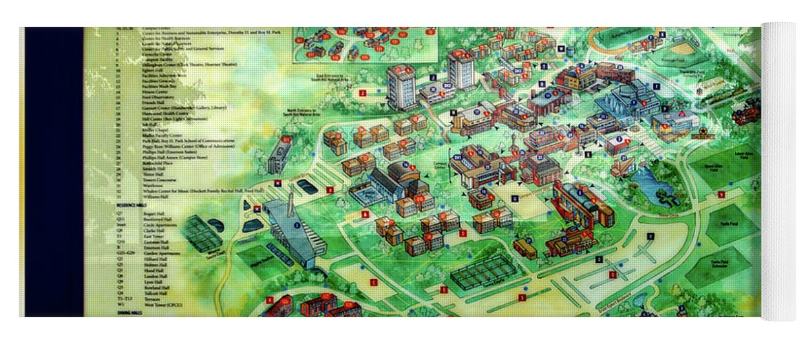 Campus Map Ithaca College.Campus Directory Ithaca College New York Signage Yoga Mat For Sale