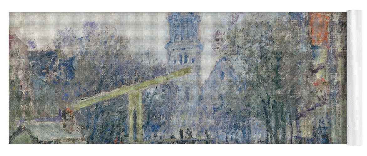 Monet Yoga Mat featuring the painting Canal Amsterdam by Claude Monet
