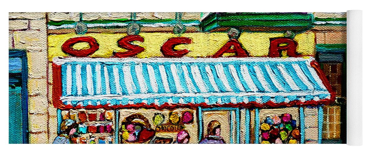 Candy Shop Yoga Mat featuring the painting Candy Shop by Carole Spandau