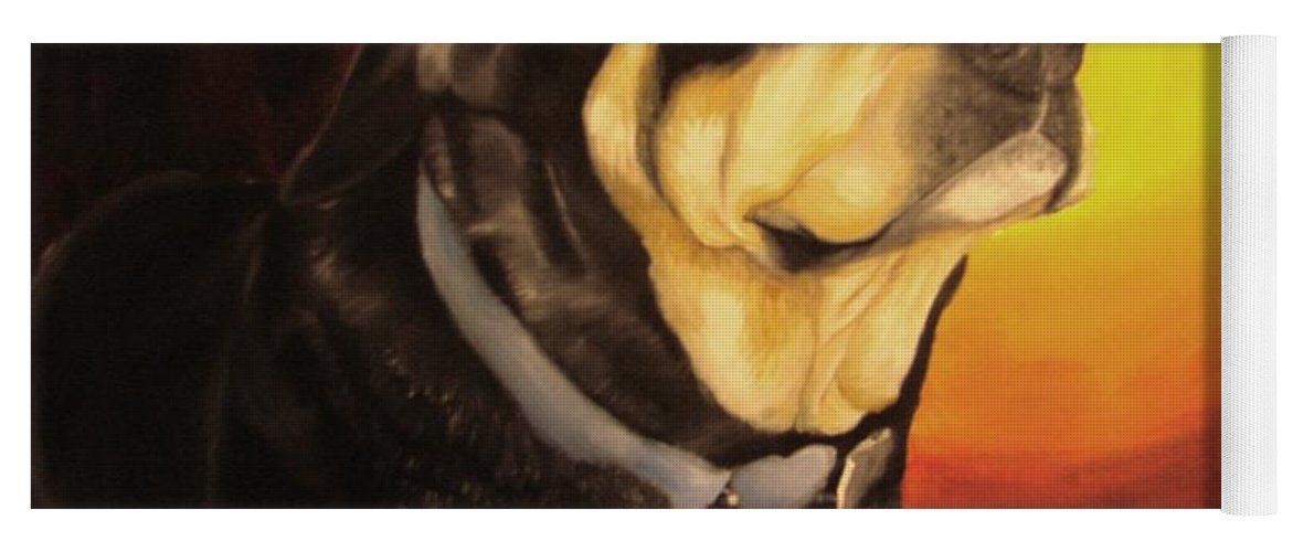 Paintings Yoga Mat featuring the painting Canine Vision by Glory Fraulein Wolfe
