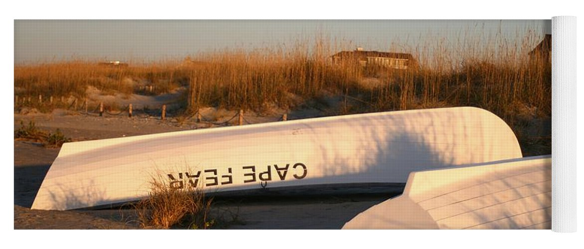 Boats Yoga Mat featuring the photograph Cape Fear Boats by Nadine Rippelmeyer