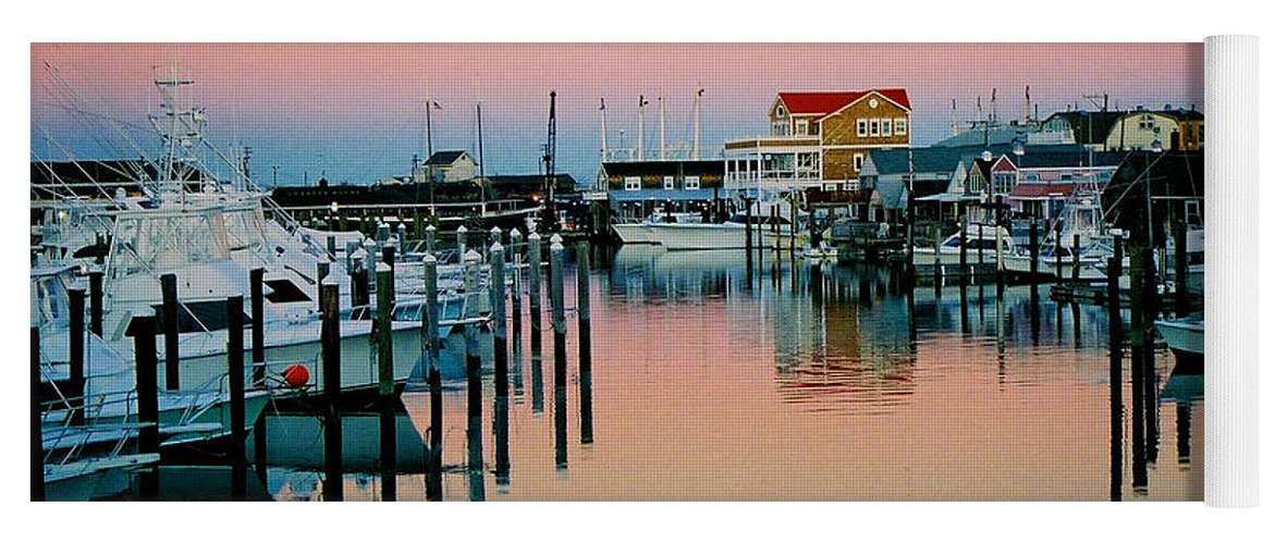 Cape May Yoga Mat featuring the photograph Cape May after Glow by Steve Karol