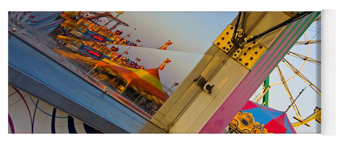 Carnival Yoga Mat featuring the photograph Carnival 1 by Skip Hunt