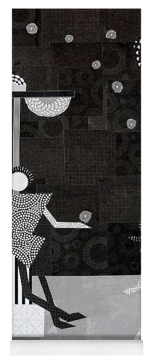 Stars Yoga Mat featuring the mixed media Catch A Falling Star by Charla Van Vlack
