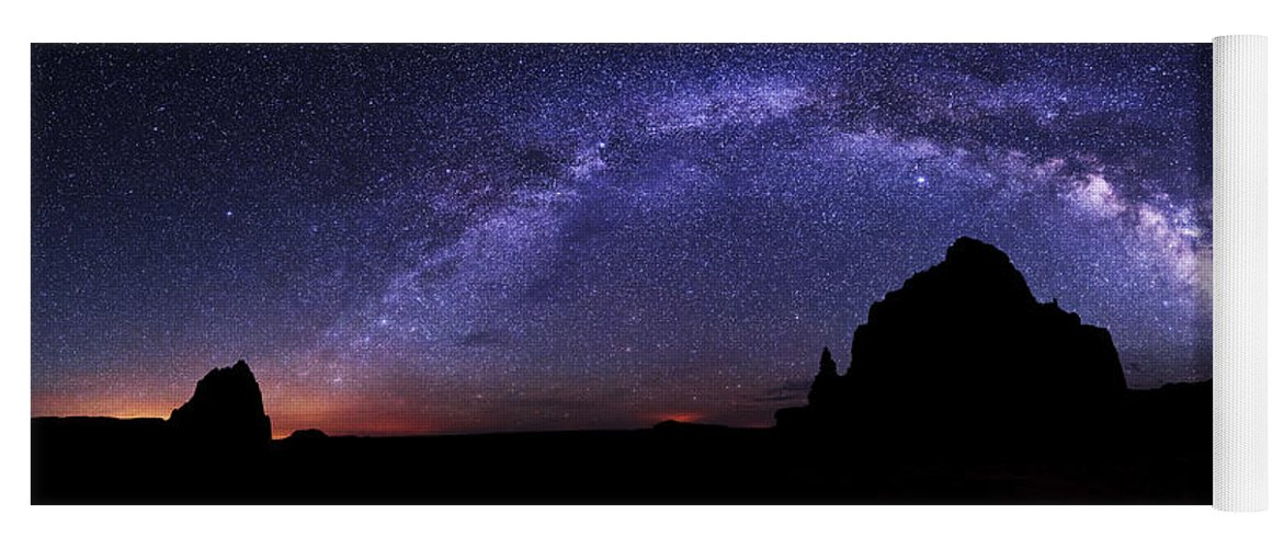 Celestial Arch Yoga Mat featuring the photograph Celestial Arch by Chad Dutson