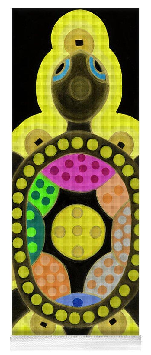 Celestial Black Turtle Yoga Mat featuring the painting Celestial black turtle by Adamantini Feng shui