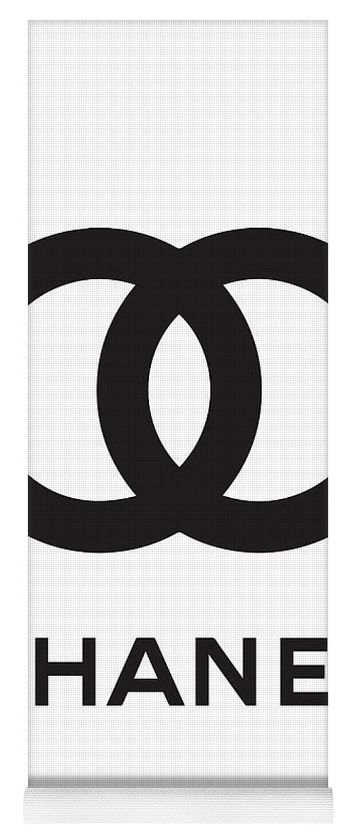 a01e816bd15 Chanel Yoga Mat featuring the digital art Chanel - Black And White 04 -  Lifestyle And