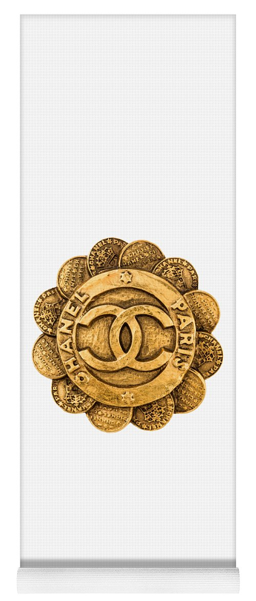 Chanel Yoga Mat featuring the painting Chanel Jewelry-2 by Nikita