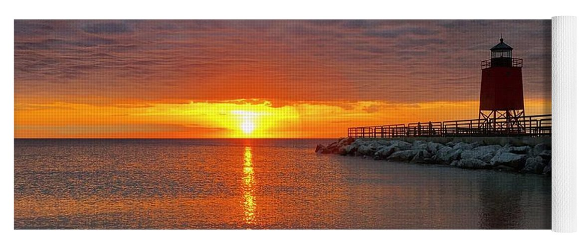 Charlevoix Yoga Mat featuring the photograph Charlevoix Sunset by Megan Noble