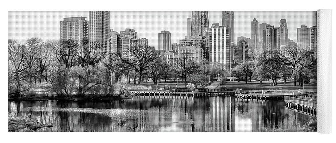 Chicago Skyline Yoga Mat featuring the photograph Chicago Skyline - Lincoln Park by Nikolyn McDonald