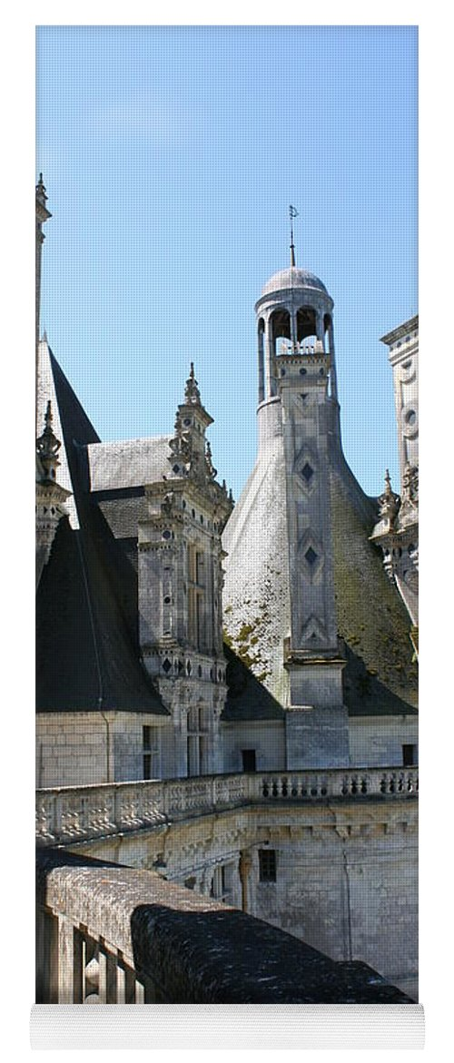 Chimney Yoga Mat featuring the photograph Chimney From Chambord - Loire by Christiane Schulze Art And Photography