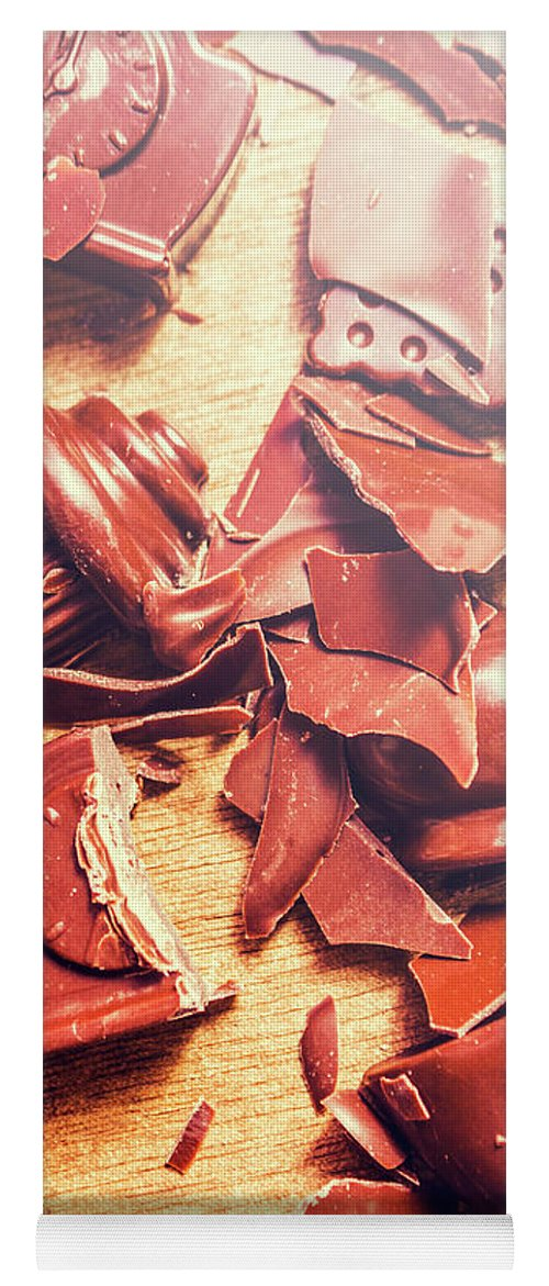 Kitchen Yoga Mat featuring the photograph Chocolate Tableware Destruction by Jorgo Photography - Wall Art Gallery