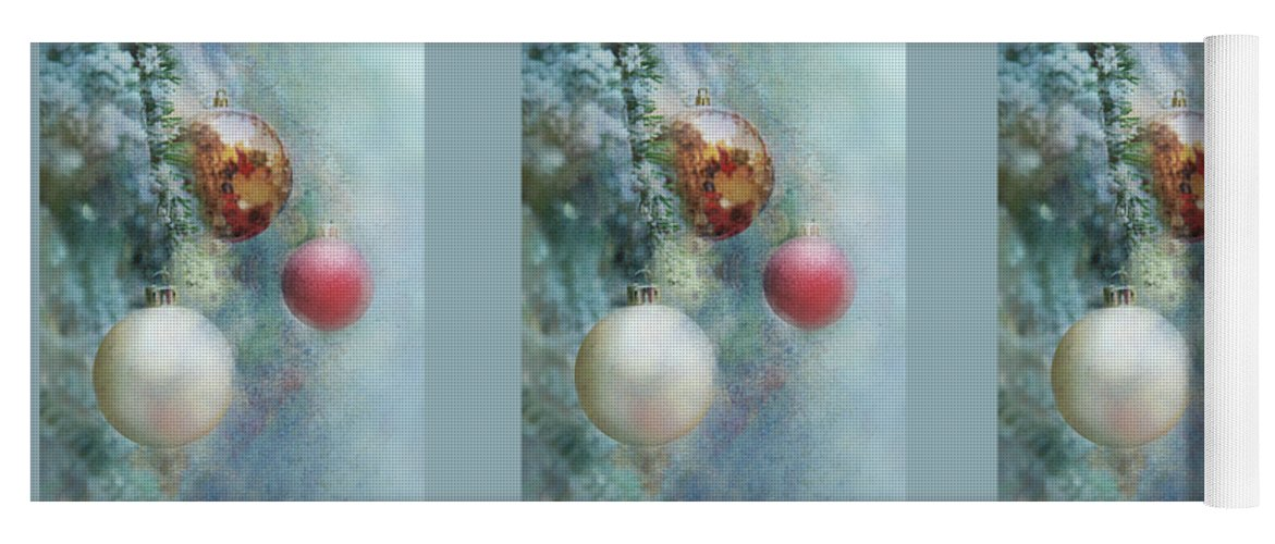 Christmas Yoga Mat featuring the photograph Christmas - Ornaments by Nikolyn McDonald