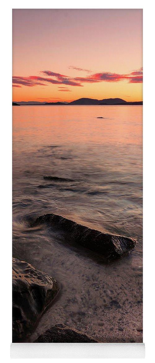 Bellingham Yoga Mat featuring the photograph Chuckanut Rocks by Ryan McGinnis
