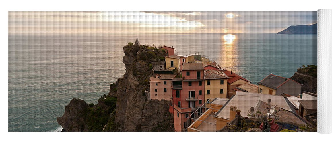 Manarola Yoga Mat featuring the photograph Cinque Terre Tranquility by Mike Reid