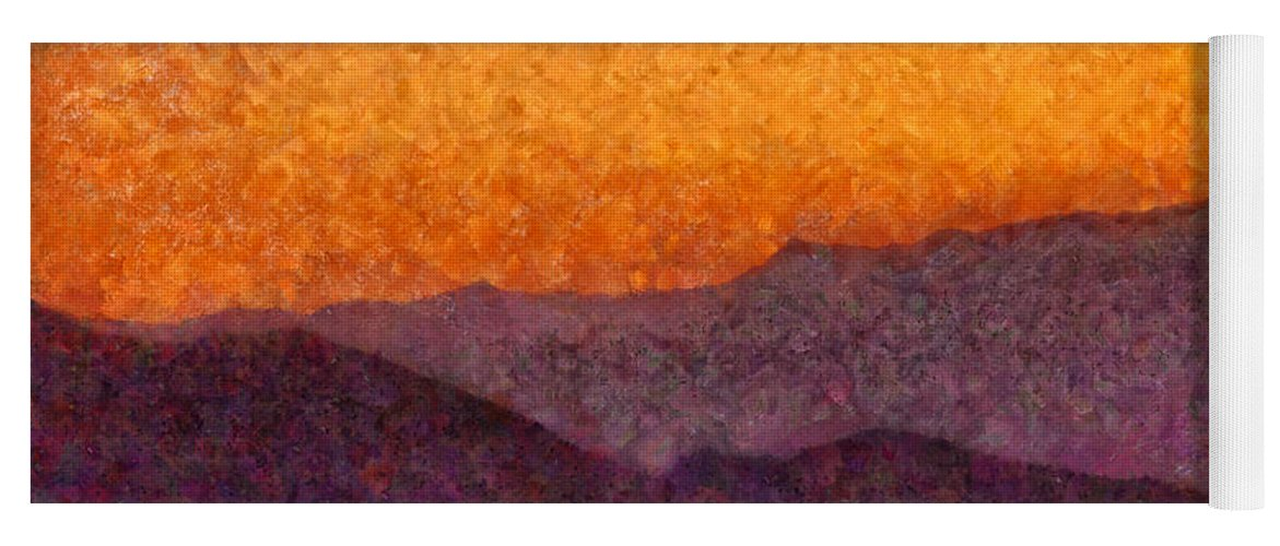 Savad Yoga Mat featuring the photograph City - Arizona - Rolling Hills by Mike Savad