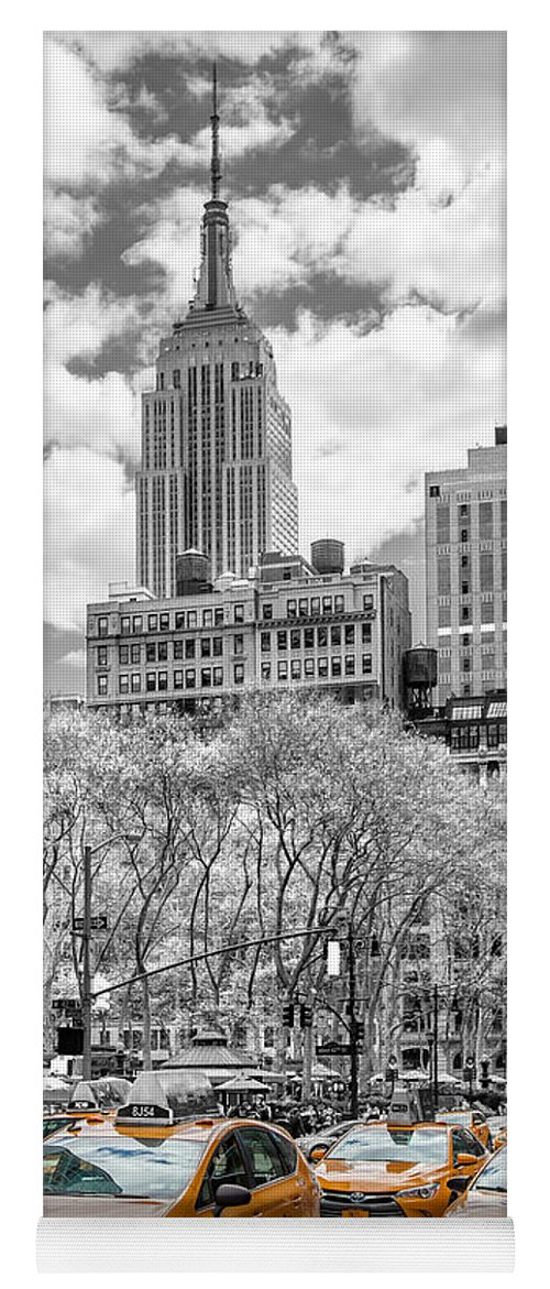 Empire State Building Yoga Mat featuring the photograph City Of Cabs by Az Jackson