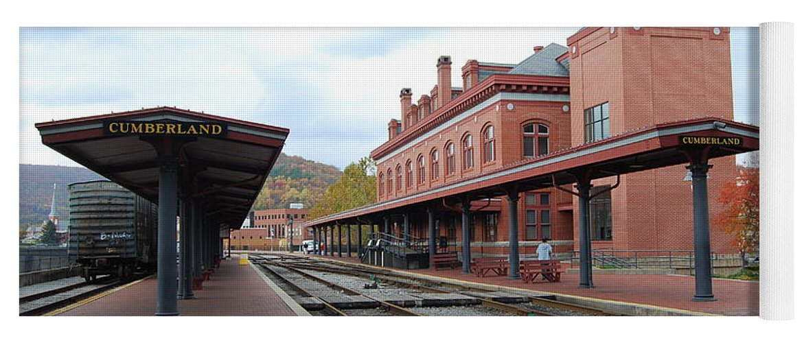 Historic Yoga Mat featuring the photograph Cumberland City station by Eric Liller