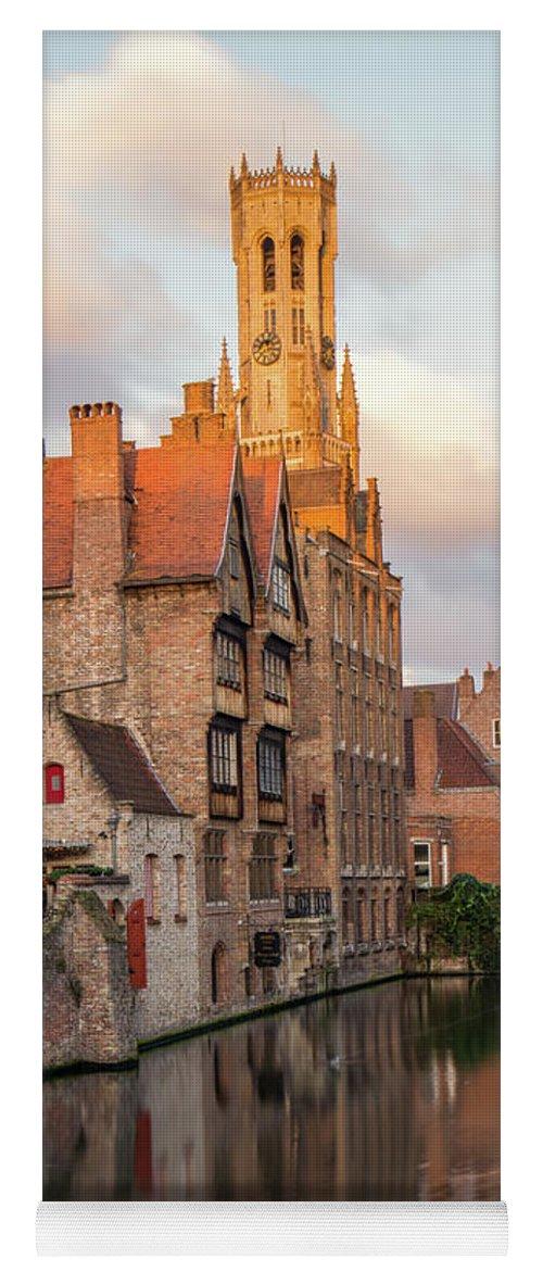 Rozenhoedkaai Yoga Mat featuring the photograph Classic Bruges by Dalibor Hanzal