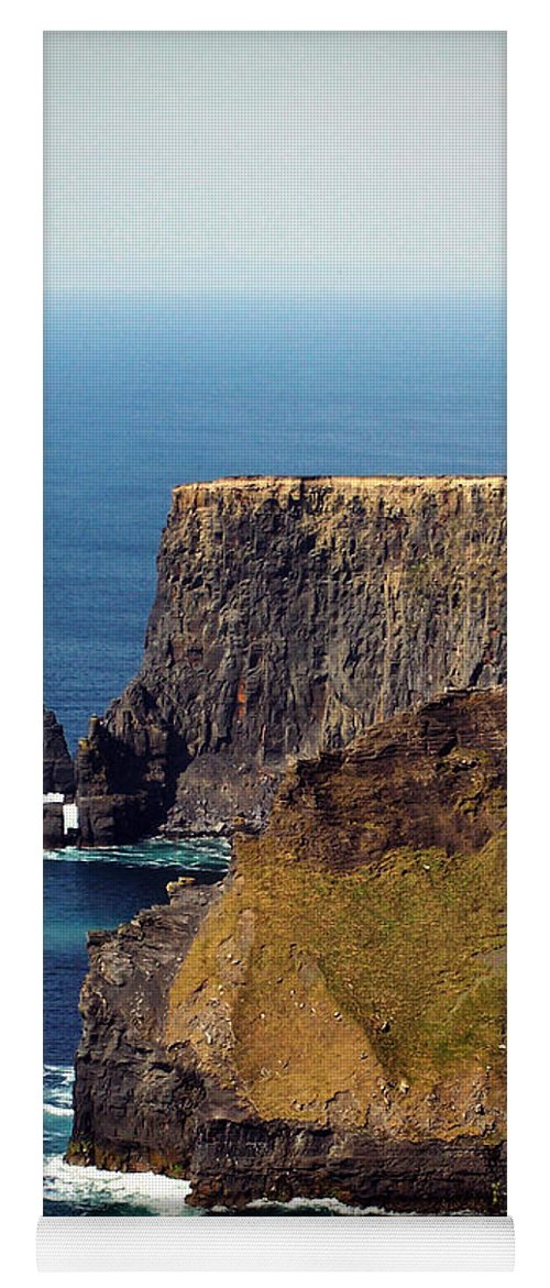 Irish Yoga Mat featuring the photograph Cliffs Of Moher Ireland View Of Aill Na Searrach by Teresa Mucha